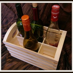 6 Place Wine Crate